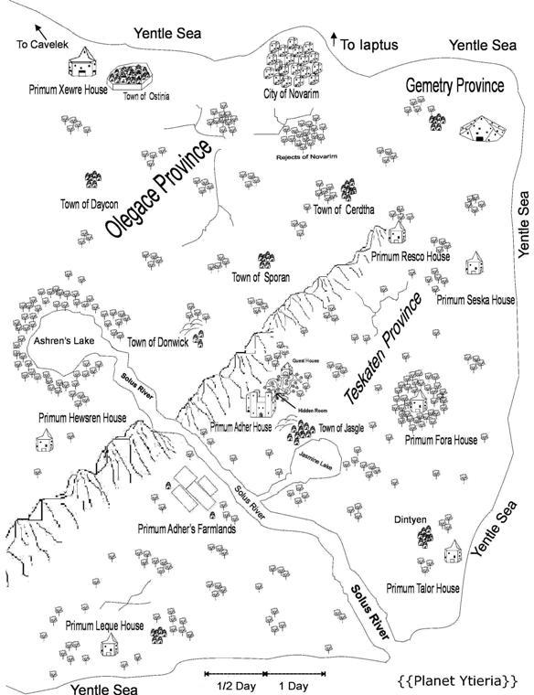 Ytieria Planet Map
